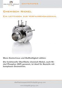 Whitepaper zur chemischen Vernickelung